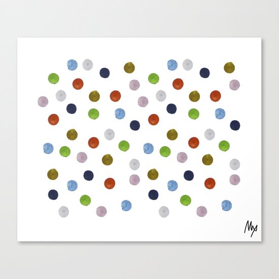 Pinpoint Dots Canvas Print
