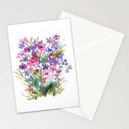 Lavender Mini Fleurs Stationery Cards