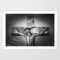 Jesus Statue Art Print