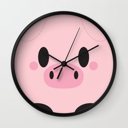 Piggy Block Wall Clock