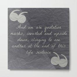 Quotation Mark Dark Metal Print