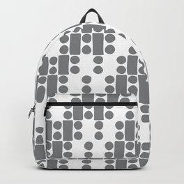 Ultimate Gray White organic dots & blocks diagonal asymmetry Backpack