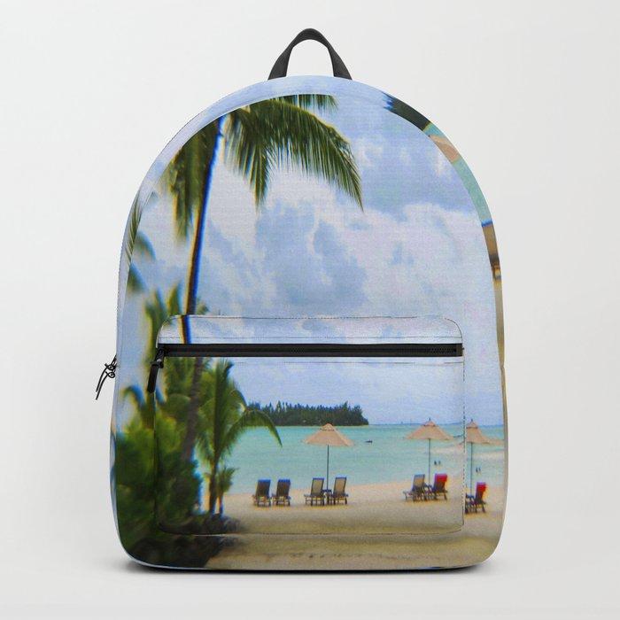 A Dreamy Day at a Tahitian Beach, Bora Bora Backpack