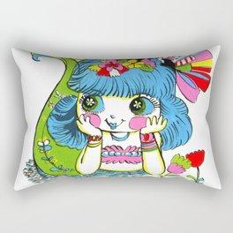 Happy Girl Mermaid Rectangular Pillow