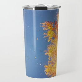 Autumn leaves in the wind Travel Mug