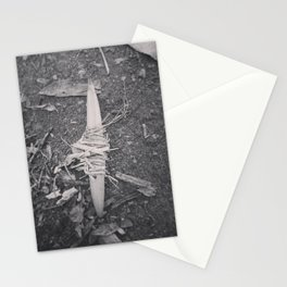 Grass-wrapped leaf Stationery Cards