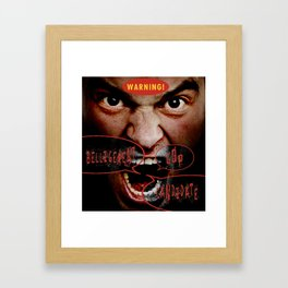 WARNING! Framed Art Print