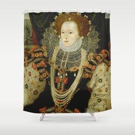 Portrait of Elizabeth I Shower Curtain