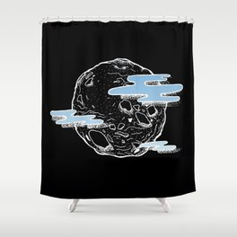Brave New Moon Shower Curtain