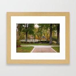 Gazebo In Autumn Framed Art Print