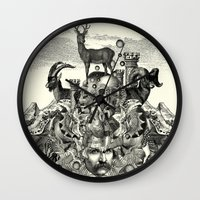 wizard Wall Clocks featuring Wizard by DIVIDUS
