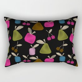 Funny cartoon multi -Frutti . Rectangular Pillow