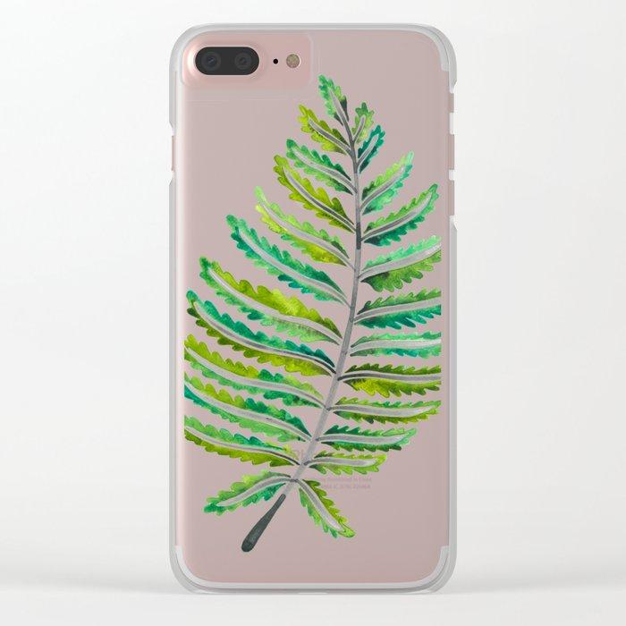 Fern Leaf – Green Palette Clear iPhone Case