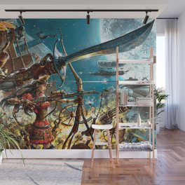 Steampunk Pirates Wall Mural