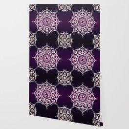 Violet Glowing Spirit Mandala Wallpaper