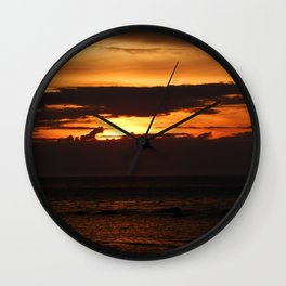 Sunset Shadows Wall Clock