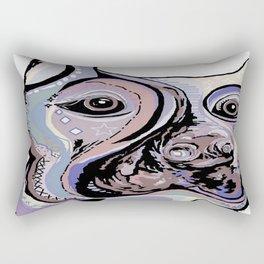 Doberman in Denim Colors Rectangular Pillow