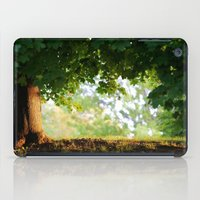 pooh iPad Cases featuring Waiting for Pooh by William Denson