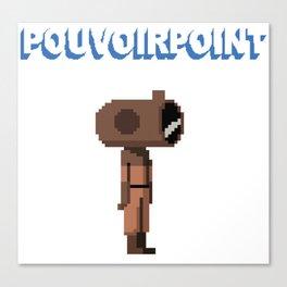 POUVOIRPOINT pixel hero (white) Canvas Print