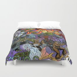 Cryptid Creatures and Mysterious Monsters Duvet Cover