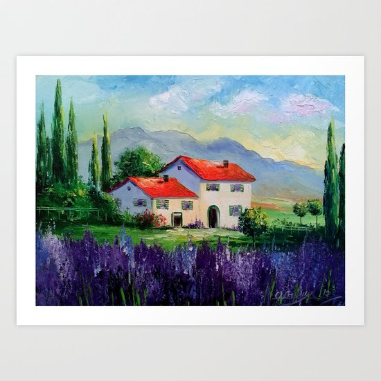 The beauty of Provence Art Print