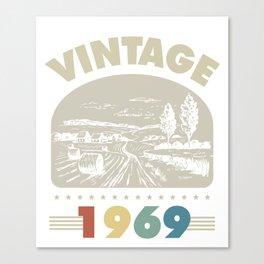 Birthday Gift Vintage 1969 Classic Canvas Print