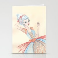 marie antoinette Stationery Cards featuring Marie Antoinette by carotoki art and love