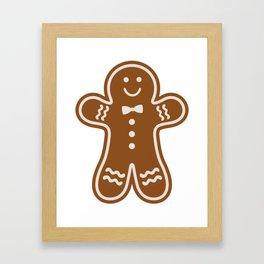 Gingerbread Hugs Framed Art Print