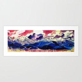 Good Evening Whistler Blackcomb Art Print