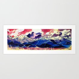 Good Evening Whistler Blackcomb Art Print