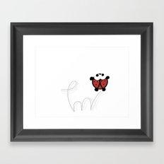 Ladybug jumping Framed Art Print
