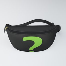 Enigma - green question mark Fanny Pack