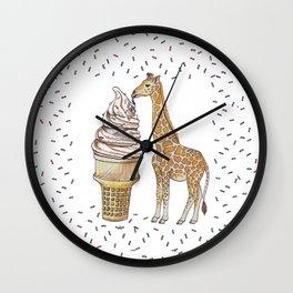Ice Cream for a Giraffe Wall Clock