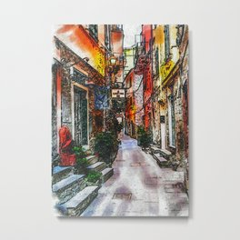 The Back Alley Street Metal Print