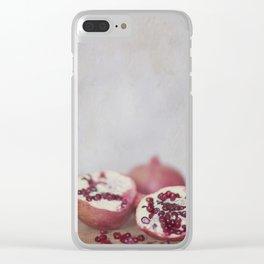 Pomegranate Clear iPhone Case