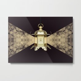 Golden Lantern Metal Print