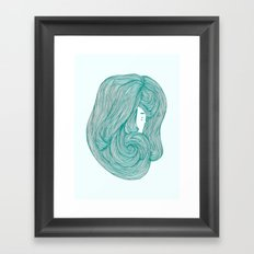 consumed - green variant Framed Art Print