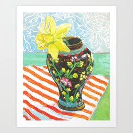Daffodil in the Ginger Jar Art Print
