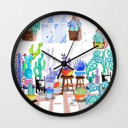 My Little Garden - illustration 2 Wall Clock