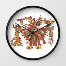 Aztec Inca God Graphic Wall Clock