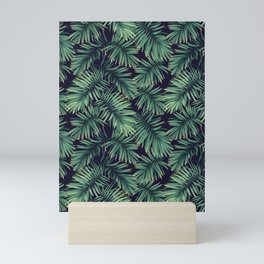 Green palm leaves Mini Art Print