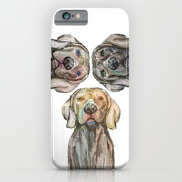 Triple Hunting Dogs iPhone Case