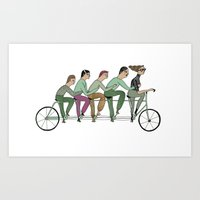 cycling Art Prints featuring cycling by Judit Canela