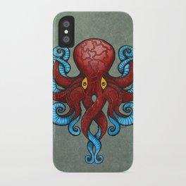 Red Dectopus iPhone Case