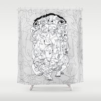 breaking Shower Curtains featuring Breaking Out by 5wingerone