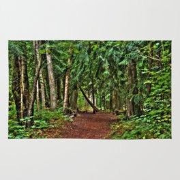 The Enchanted Way - Canadian Wilderness Forest Rug