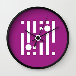 Geometric Calendar (March) Wall Clock