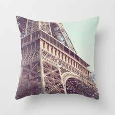 Daydreams at the Eiffel Throw Pillow