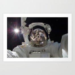 astronaut selfie Art Print