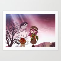 Bluenose: Autumn Walk Art Print